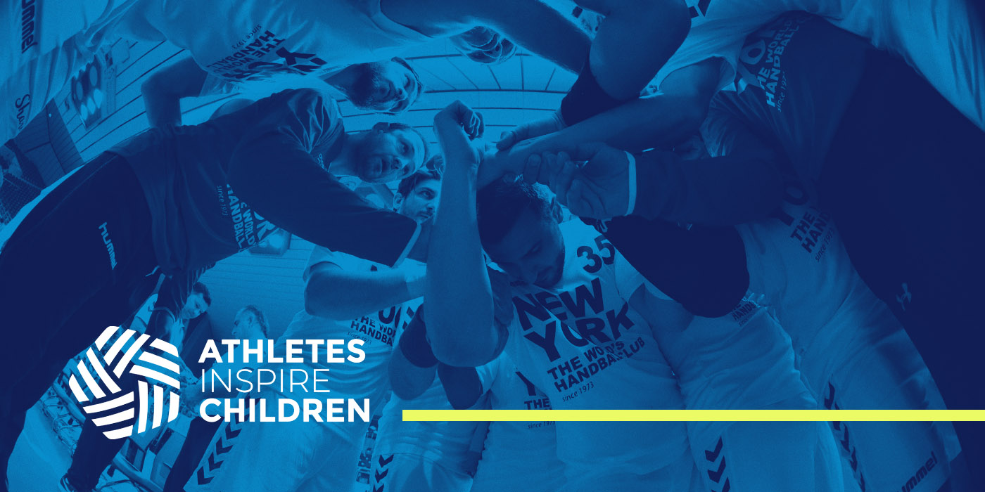 Athletes inspire Children Logo con fondo