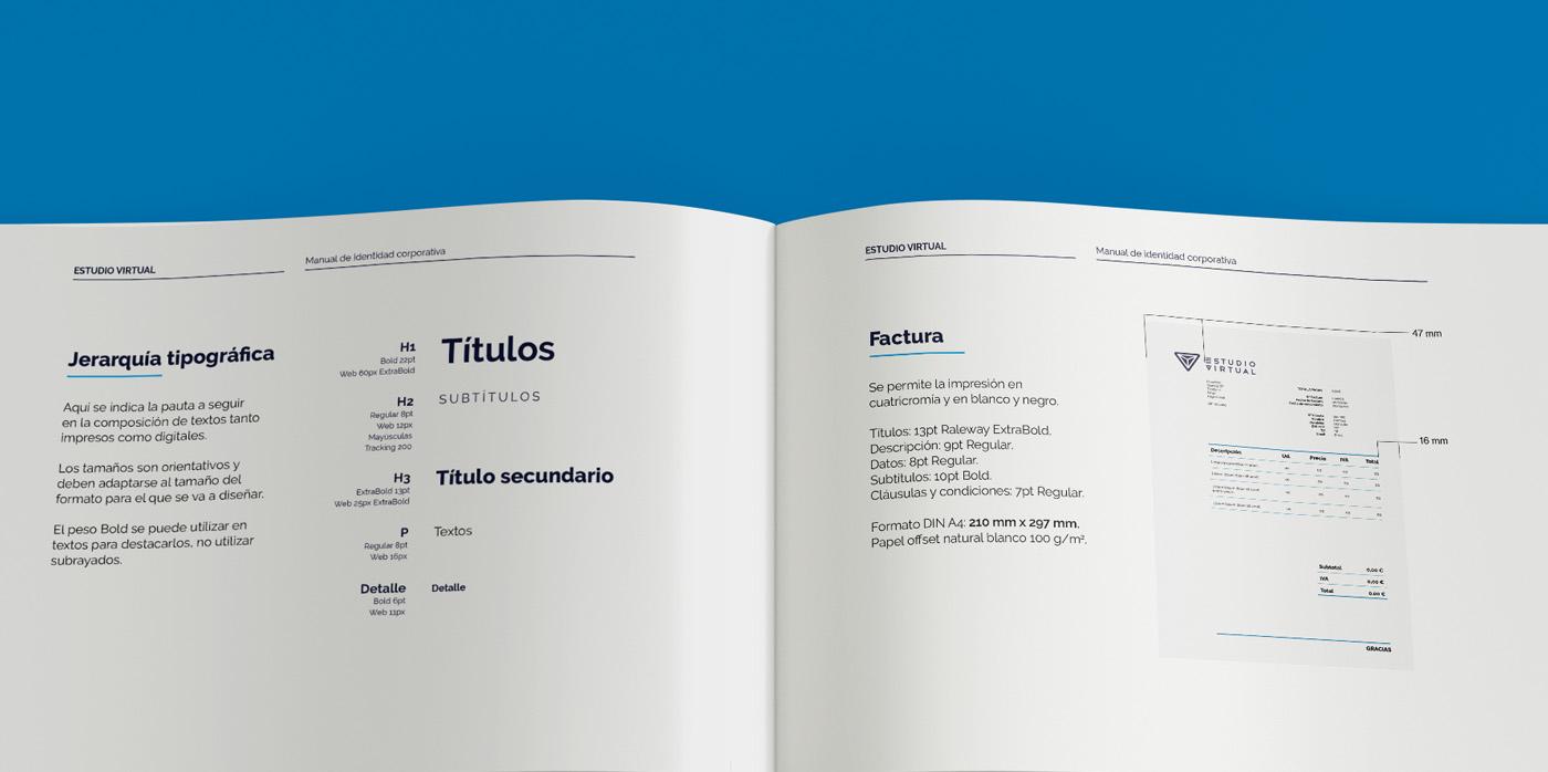 Manual de Identidad Corporativa Estudio Virtual
