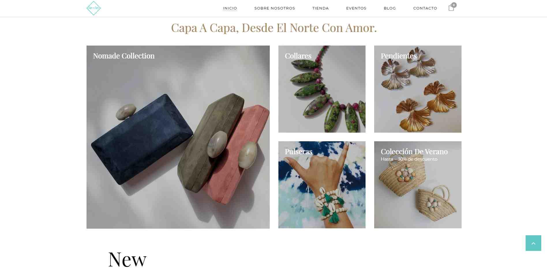 Web de Capa a Capa versión escritorio